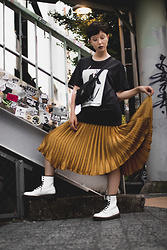 Samantha Mariko - New Balance T Shirt, English Factory Skirt, Dr. Martens Boots, Zerouv Glasses - When the going gets tough