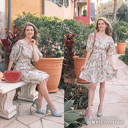 Heidi Landford - Zimmermann Floral Dress, Mimco Pumps, See By Chloé Bag, Satya Earrings - Floral Fixation