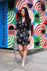 Kimberly Kong - Missguided Floral Shirt Dress, Nine West Beige Boots - Find of the Day: The Pajama Dress ($45)