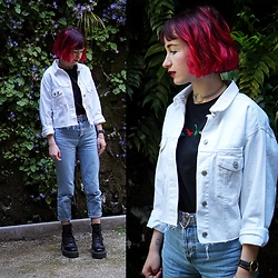 Lea B. - Pull & Bear Jacket, Dr. Martens Shoes - White summer