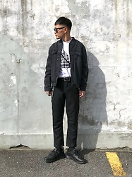 ★masaki★ - Neuwdenim Relaxed Bomber, Ch. Trousers, Nike Air Monarch - Neuw Denim