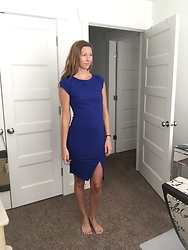 Cindy Batchelor - Blue Front Slit Dress - Blue Front Slit Dress