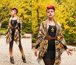 Carolyn W - Dora Bridal Plaid, Anthropologie Buckled, Black Milk Clothing Matte, Bzr Ombre, Freebird Crue - Wrapped in Autumn