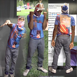 Emery Jones - Emle Hyper Patchwork Tee, Emle Hyper Patchwork Mask, Air Jordan Retro V - EMLE en MOTION { excerpt two }