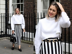 Amy Ramírez - Zara Sweater, Mango Skirt - Stripes