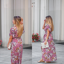 Gabriela Grębska - Shein Dress, Shein Bag - Floral maxi dress
