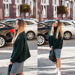 Gabriela Grębska - Reebok Sneakers, Na Kd Sweater, Zara Dress - Green sweater