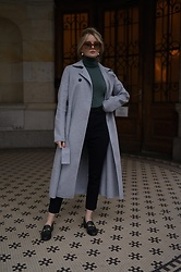 PATINESS -  - GREY WOOL COAT