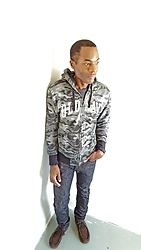 Thomas G - Old Navy Camouflage Hoodie, Levi's 511 Strauss & Co, Cross Bracelet, Skechers On The Go - Old Navy + Levis 511 Strauss & Co
