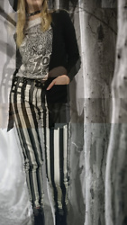 Quinn M-P - Forever 21 Pants - Spooky Stripes