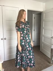 Cindy Batchelor -  - Green Floral Dress