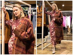 Anastasiia Masiutkina - Acne Studios Coat, Zimmermann Dress, Casadei Shoes, Marni Earrings - Perfect colors