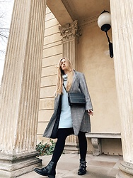 Marta Caban - Zaful Coat, Sinsay Sweater - BLUE FOR AUTUMN