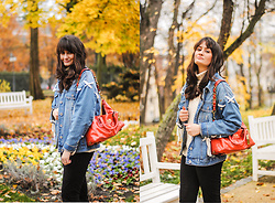 Cleo D - Jacket, Coach Bag - Coach bag and denim jacket