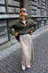 Anna Borisovna - Zara Shirt, Zara Skirt, Massimo Dutti Shoes, Massimo Dutti Belt, Céline Sunglasses - The Cord Shirt
