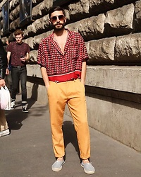Elia Franceschetti - Splash Serafino, Splash Pants, Ray Ban Sunglasses - Paris Fashion Week