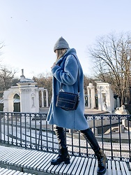Marta Caban - Orsay Cap, Zaful Coat, Bayla Shoes - I'M BLUE