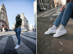 Giseleisnerdy L - Reebok Baskets, &Other Stories Jeans, Mango Coat, Mango Knit, Monki Shirt - Giseleisnerdy.fr - latering time