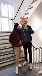 Gaye Yan - Topshop Jacket, Zara Trousers, Superga Sneakers, Levi's® Shearling Jacket, Tommy Jeans, Adidas Sneakers - Couple outfits