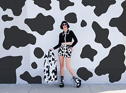 Amy Roiland - Dolls Kill Top, Dolls Kill Shoes, Dolls Kill Skirt, Dolls Kill Jacket, Dolls Kill Sunglasses - Moo Moo