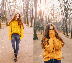 Halvmåner Blog - Shein Sweater - Yellow sweater