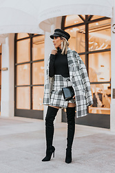 Maria De La Cruz - Haute & Rebellious Tweed Coat - THE PLAID TWEED SET