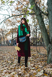 Andrea Funk / andysparkles.de - Vila Dress, Zara Coat, Liebeskind Bag - Green Polka Dots