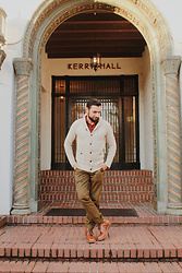 Hector Diaz - J. Crew Cream Cardigan, J. Crew Plaid Flannel Shirt, J. Crew Olive Green Chinos, J. Crew Brown Leather Boots - Winter is Here