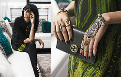 Allison C. - Gucci Chain Wallet, Jessica Simpson Snake Dress, Charlotte Russe Fur Vest, Forever21 Cat Eye Glasses, Cosmostyle Jewelry - Snakeskin and Sparkles