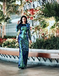 Illy Perez - House Of She Mermaid Sequins Long Unique Dress, House Of She.Com View More - Mermaid Kinda Christmas