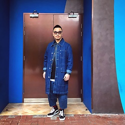 Mannix Lo - Online Shop Long Denim Coverall, Helmut Lang Denim Jacket, Zara Layered Tee, Online Shop Denim Cropped Pants, Vans Sk 8 Hi Sneakers - Sometimes the right path is not the easiest one