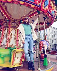 Miha Teicu - Stradivarius Cowboy Boots, Stradivarius High Waist Jeans - Happy New Year!