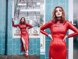 Hannah Louise - Ashish X Warehouse Red Sequin Dress - Red Sequin Dress