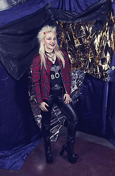 Julia P - Aliexpress Devil Horns, Sex Shop Choker, Vintage Plaid Jacket, Aliexpress Boy London Shirt, H&M Leather Pants, Aliexpress Platform Boots - Glamour Punk
