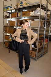 Anna Borisovna - Other Stories Jacket, Céline Bag, H&M Pants, Mango Shoes, Mango Shirt, Massimo Dutti Belt - The beige Jacket