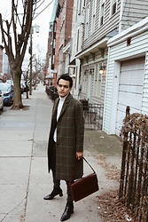 Alejandro Cantoral - & Other Stories Coat, Zara Leather Boots, & Other Stories Leather Bag - Low to the Street