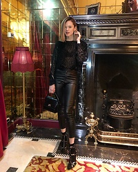Anastasiia Masiutkina - Isabel Marant Top, Isabel Marant Leather Pants, Jimmy Choo Shoes, Ama Bag - London Black