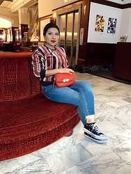 Lina Lemus - Forever21 Striped Sweater, Asos Ridley Jeans - Mooser