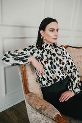 Anna Puzova - Shein Blouse - Never Enough Of Leopard Print