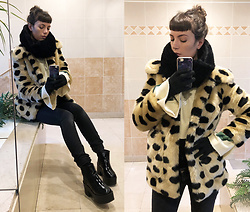 ♡Nelly Kitty♡ - Urban Outfitters Faux Fur Coat - OOTD#58