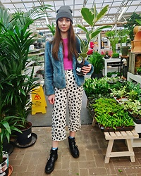 Chelsea Jade -  - Spotty Jeans and Faux Fur Coat