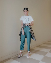 Tricia Gosingtian - Mango Top, Mango Pants, Mango Blazer, Mango Heels, Mango Earrings - 012619