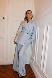 Anna Borisovna - Bouguessa Blazer, Bouguessa Pants - The baby Blue Suit