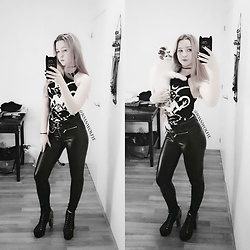 Joan Wolfie - Killstar Top, Jeffrey Campbell Shoes Boots - Kitty Cat