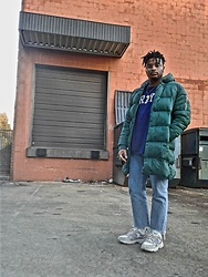 Jason - Skechers Stamina Contic, Asos Cropped Denim, Forever 21 Puffer Jacket - NYFW 19 : INSP #1