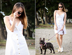 Wicked Ying NEW - Zaful White Linen Dress, Superga Off White Sneakers - Church and White Linen