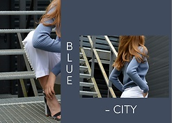 KRST VIEW Purytė - Zara Flared Pants, Cashmere Sweater, Reserved Heels - Blue City: Think Sky And Sea