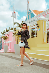Larisa Costea - Na Kd Fashion Polka Dots Dress - Scuba Lodge
