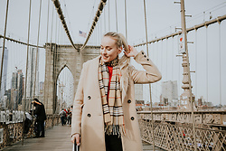 Aleksandra D - Reserved Coat - Brooklyn Bridge - Camel Coat Reserved