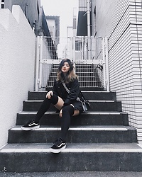 Chiemi Ito - Vans Shoes, Forever 21 Jacket - Street